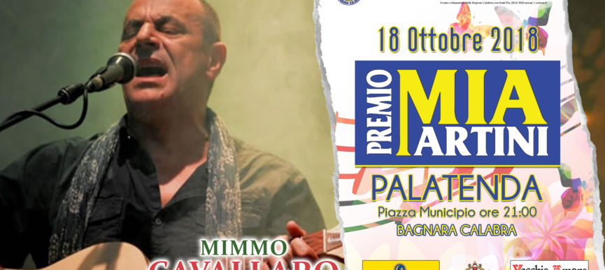 MIMMO CAVALLARO al premio Mia Martini 2018