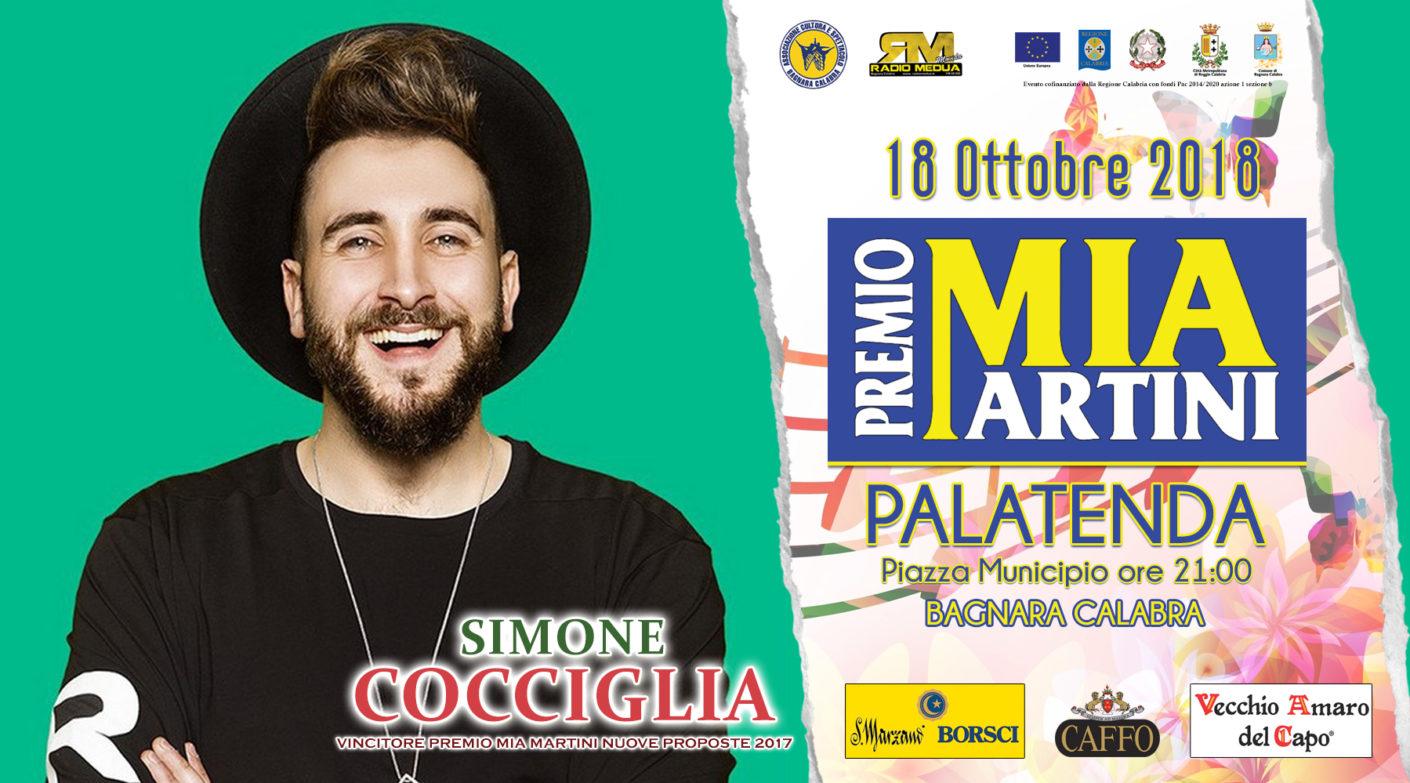 SIMONE COCCIGLIA al premio Mia Martini 2018