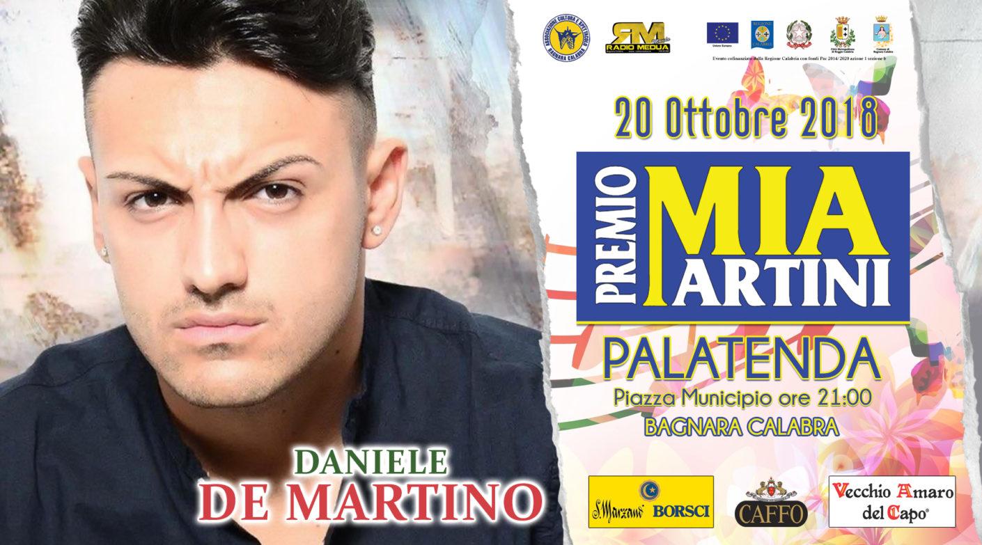 il neo melodico DANIELE DE MARTINO al premio Mia Martini 2018