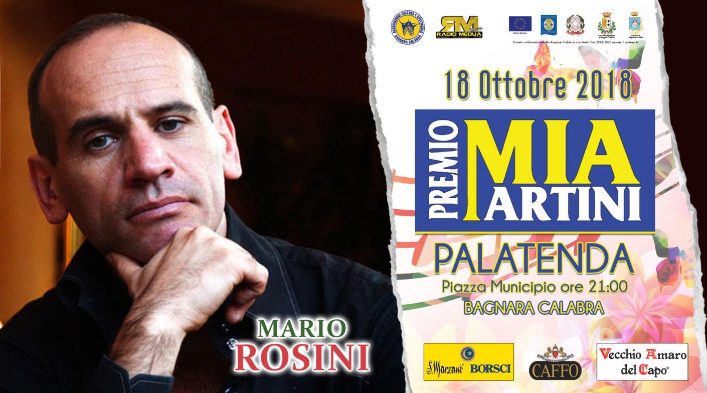 MARIO ROSINI al premio Mia Martini 2018