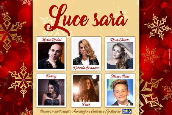 """In uscita il brano di Natale """"LUCE SARA' prodotto dal Premio Mia Martini"""